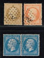 B9- N° 21, 22, 23 Sans Défaut Oblit  ANCRE - 1862 Napoleone III