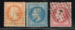B9- N° 29, 30, 32 Sans Défaut Oblit  ANCRE - 1863-1870 Napoleone III Con Gli Allori