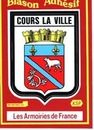 Thèmes > Non Classés  Adhésif Cours La Ville - Cartes Postales