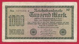 Billet Allemand - Mille Mark - N° 107669 - [ 2] 1871-1918 : German Empire