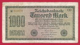 Billet Allemand - Mille Mark - N° 333679 - [ 2] 1871-1918 : German Empire
