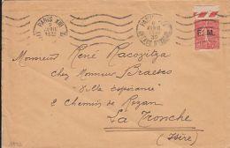 SOWER, FM- MILITARY FRANCHISE OVERPRINT STAMP ON COVER, 1932, FRANCE - France