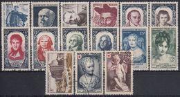FRANCIA 1950 Nº 863/877 AÑO COMPLETO USADO - 1950-1959
