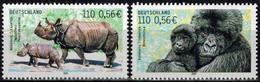 MDA-BK24-389-2 MINT ¤ DEUTSCHLAND 2001 2w In Serie ¤ ANIMALS OF THE WORLD - MAMMALS - WILD ANIMALS - APES - Rhinozerosse