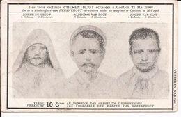 Ramp Van Contich. De Drie Slachtoffers Van Herenthout Verplettert Onder De Wagons Te Contich, 21 Mei 1908 - Herenthout