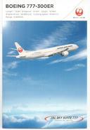 New Boeing 777-300 ER, Japan Air Line Postcard, Mint,uncirculated - 1946-....: Modern Era