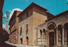 Italy Citta Di S Gimignano St John Street and View Of St Francis