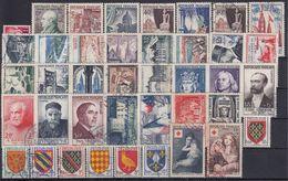 FRANCIA 1954 Nº 968/1007 AÑO COMPLETO USADO - 1950-1959