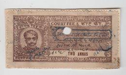 MEWAR / UDAIPUR  2A  Court Fee  Type 20  K&M 202 A    #  99839  Inde Indien  India Fiscaux Fiscal Revenue - Indien