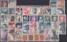 FRANCIA 1955 Nº 1008/1049 AÑO COMPLETO USADO - 1950-1959