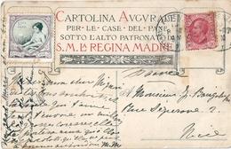 ITALIE Cartolina Augurale Per Le Case Del Pane. Regina Madre Vignette à 5 C-simi - Illustratori & Fotografie