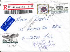 Sweden Registered Cover Sent To France 31-8-1999 - Sweden