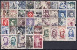 FRANCIA 1956 Nº 1050/1090 AÑO COMPLETO USADO - 1950-1959