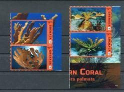 """WWF - Grenada - MiNr. 7351 / 7354 - """"Elchgeweihkoralle"""" ** / MNH (Jahr 2016) - W.W.F."""