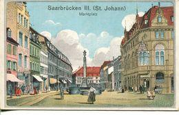 Saarbrücken - St. Johann. Marktplatz 1919 (001151) - Saarbrücken