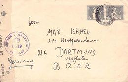 PALESTINE - LETTER 1947 HAIFA -> DORTMUND/GERMANY -CENSOR- - Palestine