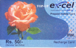 MOBILE / TELEPHONE CARD, INDIA - BSNL, EXCEL, RS. 50 PREPAID MOBILE RECHARGE CARD, ROUND CORNER - Unclassified