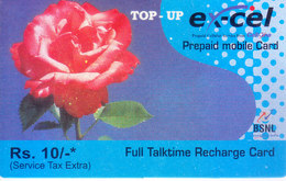 MOBILE / TELEPHONE CARD, INDIA - BSNL, EXCEL, RS. 10 PREPAID MOBILE FULL TALKTIME RECHARGE CARD - Unclassified