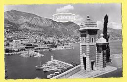 CPSM Monaco Monte Carlo L Entrée Du Port Vu Des Remparts TBE ( Peu Commune ) - Harbor