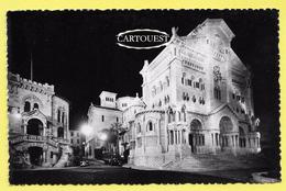CPSM Monte Carlo Illuminations Cathédrale Et Palais De Justice Animée Camion Et Auto  ( Peu Commune ) - Harbor
