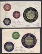 1963 TONGA 2X COVER FRIENDLY ISLANDS OCEANIE VAVA'U GOLD COIN OR POLYNESIA POLYNESIE REGISTERED TO PARIS FRANCE - Tonga (1970-...)
