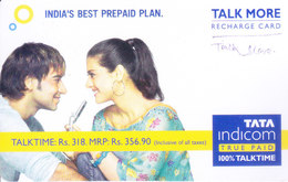 MOBILE / TELEPHONE CARD, INDIA - TATA INDICOM RS. 318 TALK MORE RECHARGE CARD - Unclassified