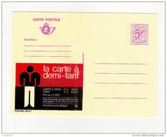 Publibel Neuve N°  2653 (La Carte à Demi-tarif; Ch. De Fer Belge) - Ganzsachen