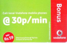 MOBILE / TELEPHONE CARD, INDIA - VODAFONE RS. 59 BONUS - Unclassified
