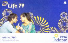 MOBILE / TELEPHONE CARD, INDIA - TATA INDICOM GO LIFE RS. 79, PREPAID MOBILE CARD - Unclassified
