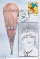 Aérostation, Ballons Sur La Ville (Metz) 27 Aout 2001, Cachet Du Bureau Temporaire Sur CP Ballon Du Prof Picard - France