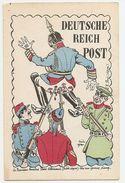 Militaria Caricature Deutsche Reich Post - Humoristiques