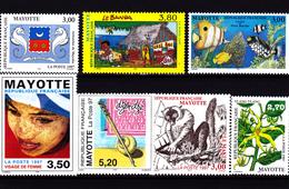 """Mayotte 1997 Timbres N° 42-43-44-45-46-47-51 Neufs ** - Voir Verso Et Descriptif"""" - Mayotte (1892-2011)"""