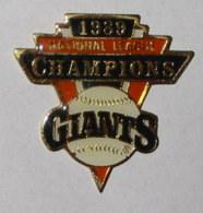 Pin's NATIONAL LEAGUE CHAMPIONS, GIANTS - Baseball