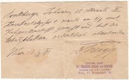 ARZT ATTEST 1891 - Historische Dokumente