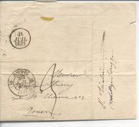 Dieppe Type 12 Lac >> Rouen 1832 Indice 4 - Postmark Collection (Covers)