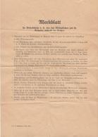 MERKBLATT Für Wehrpflichtige 194?, Verhalten Während Des Krieges - Historische Dokumente