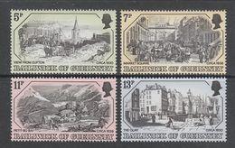 SERIE NEUVE DE GUERNESEY - GRAVURES ANCIENNES DE GUERNESEY N° Y&T 152 A 155 - Engravings