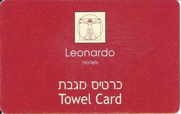 Leonardo Hotels Towel Card - Thin Plastic - Hotel Keycards