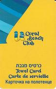 Coral Beach Club Hotel Towel Card - Thin Plastic - Hotel Keycards