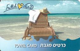 Fattal Hotel Towel Card - Thin Plastic - Plain Reverse - Hotel Keycards