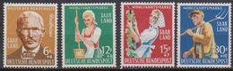 Saarland1958 MiNr.441 - 444 ** Postfr.Wohlfahrt Landwirtschaft ( 2570 ) Günstige Versandkosten - 1957-59 Federation