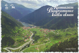 The Picturesque Uzungöl Lake (Trabzon Province), Poscard  Sent  To ANDORRA, With Arrival Postmark - Turquie