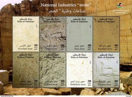 Palestine - 2017 - National Industries - Stone - Mint Souvenir Sheet - Palestine