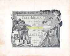 GARNISON DE GAND GENT FETE MILITAIRE AU PROFIT DES VICTIMES DE LA CATASTROPHE DES ANTILLES 1902 FREDERIC DE SMET - Programas