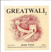 Etiquette De VIN DE CHINE - GREATWALL Hebei - Rosés