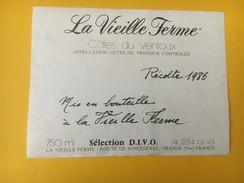 4788 - La Vieille Ferme 1986 Côtes Du Ventoux Sélection DIVO - Côtes Du Ventoux