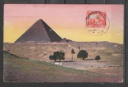 EGYPTE   SPHINX  ET  PYRAMIDES  :  CARTE  MAXIMUM  1912  DE  PORT - SAID     .  (  2  SCANS R° V°  ) . - 1866-1914 Khédivat D'Égypte