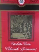 4799 - Chianti Giannini 1983 Etichetta Rossa Riserva Gastonomia Italie - Etiquettes