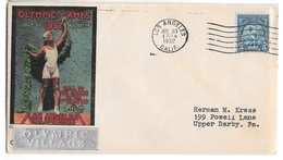 US 1932 Summer Olympics Opening Day Cover Olympic Village Silver Bar Sc 719 5c Cachet - Summer 1932: Los Angeles