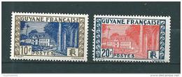 Colonie Timbres  De Guyane De 1929/38   N°131/32  Neuf ** - Guyane Française (1886-1949)